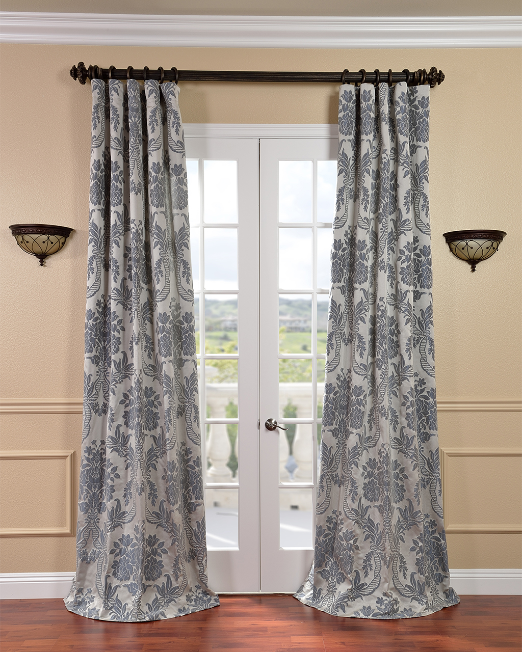 Curtains For A Bedroom Big Window Blue Room Bow Boys