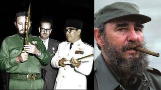 Bung karno dan Fidel Castro