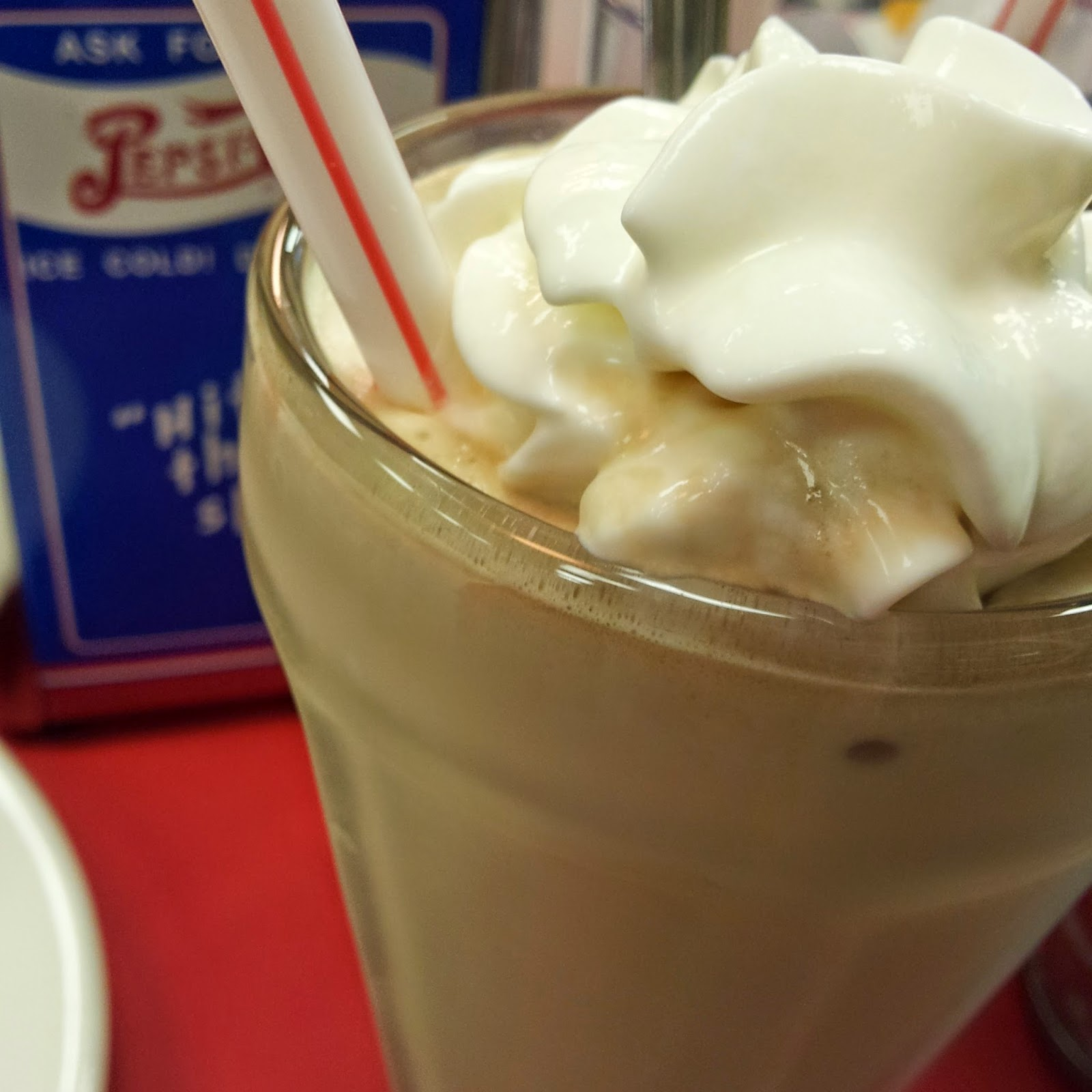 Coffee Milkshake at Walker's Soda Shop in Mt. Airy, N.C.