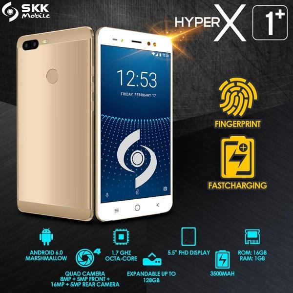 SKK Intros Hyper X1+ Smartphone with Four Cameras