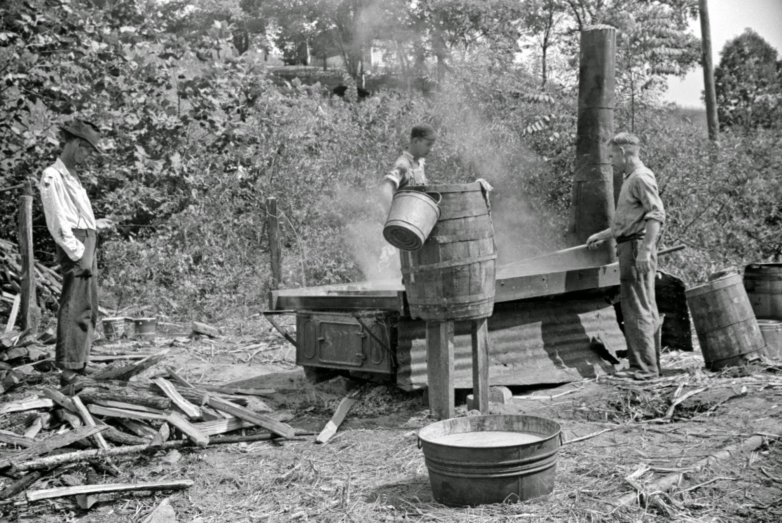 Black and white photos of west virginia coal mine life in 1938