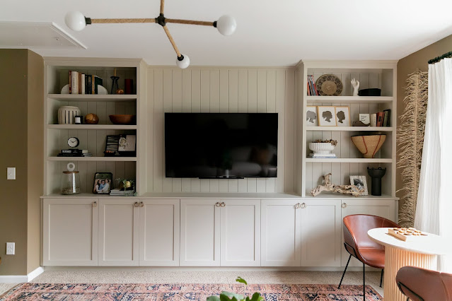 DIY Built-Ins in our Warm and Cozy Family Room Renovation