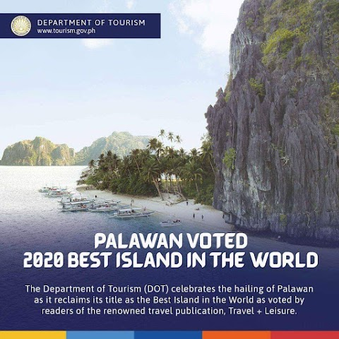 Congratulations: Palawan Voted as Best Island in the World  2020 by Trave and Leisure