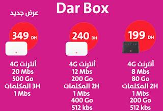 التغييرات الجديدة في عروض Dar Box 4G و Dar Box Fixe orange