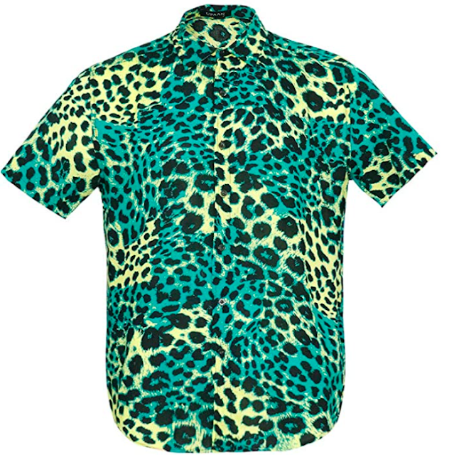 Men's Leopard Print Button Up