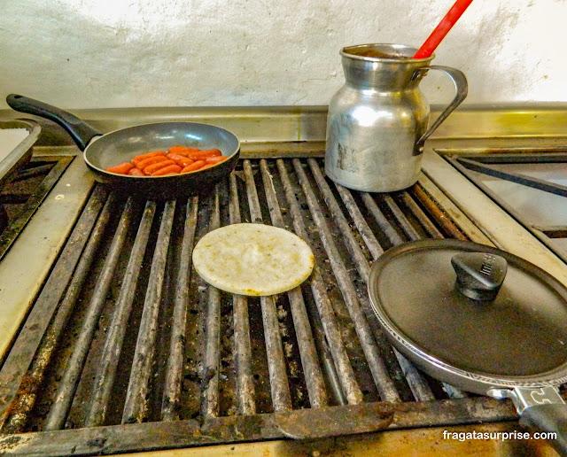 Arepas de trigo típicas de Boyacá, Colômbia