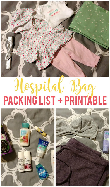 Pack your hospital bag ahead of time using the free printable packing list included!