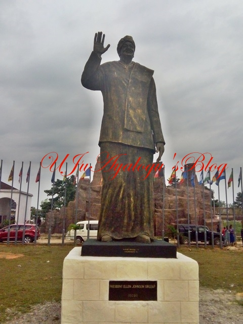 Imo Governor, Rochas Okorocha Unveils Statue in Honour of Liberia's President, Johnson-Sirleaf (Photos)