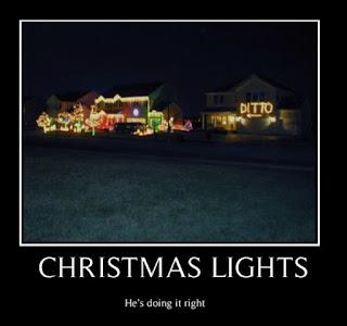Christmas Lights Demotivational Poster
