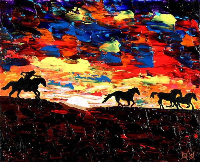 Superação ~ Mesmo cego, Bramblitt pinta belas pinturas