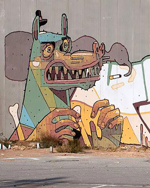 Brand New Street Art Collaboration By Aryz, Vino and Gr170 Somewhere in Spain. 3