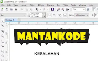 Mengatasi outline font lancit di coreldraw contoh salah - mantankode