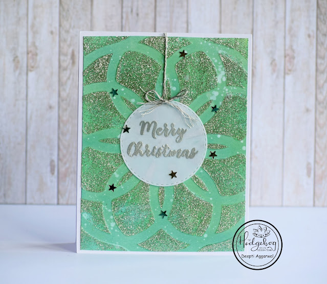Christmas Card  with Glitter paste