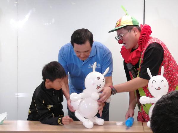 新台灣人小學堂 馬英九與家扶兒提前慶中秋