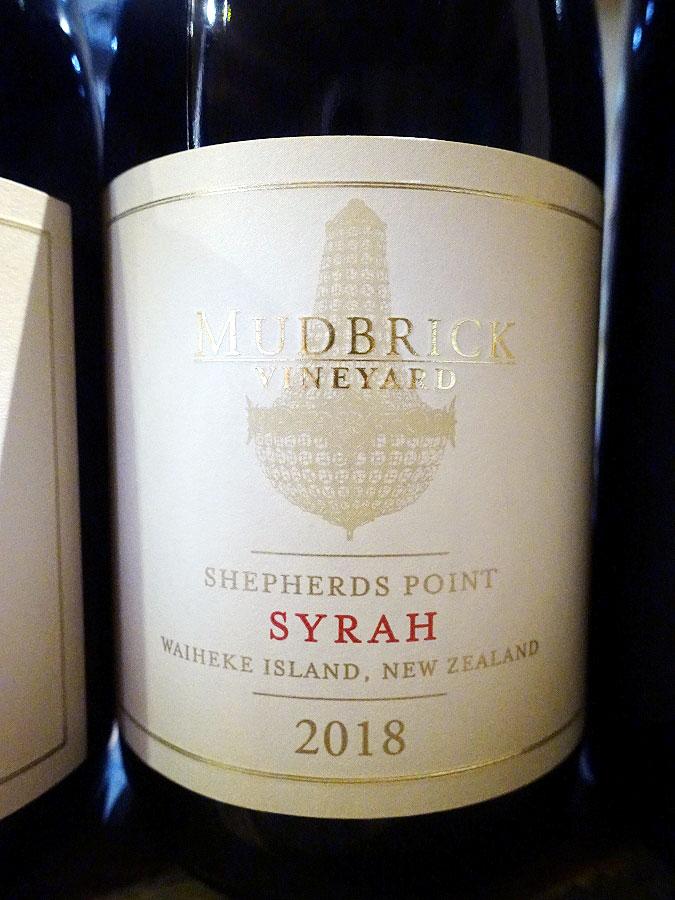Mudbrick Shepherd's Point Syrah 2018 (92 pts)