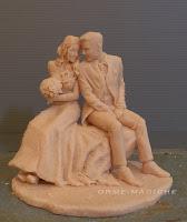 scultura sposi su commissione modellini personalizzati action figure persona in miniatura orme magiche