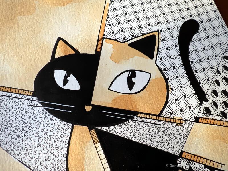 Kot Pablo, rysunek, tusz