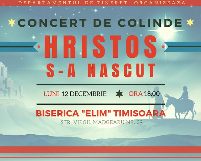 "Concert de colinde ""Hristos s-a nascut"" la Elim Timisoara - 12 dec 2016"