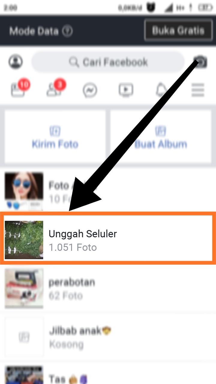 cara menghapus foto di facebook lewat hp