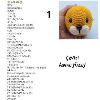 Amigurumi Aslan Yapımı | How to make lion 1.BÖLÜM - YouTube | 320x320