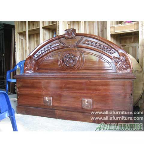 tempat tidur kayu jati astina cempaka