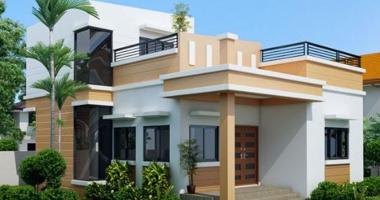 Lingkar Warna Inspirasi Desain Rumah Minimalis 1 Setengah Lantai Denah