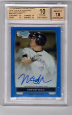 PRISTINE Mitch Nay Bowman Chrome Blue Ref Auto BGS 10 Blue Jays