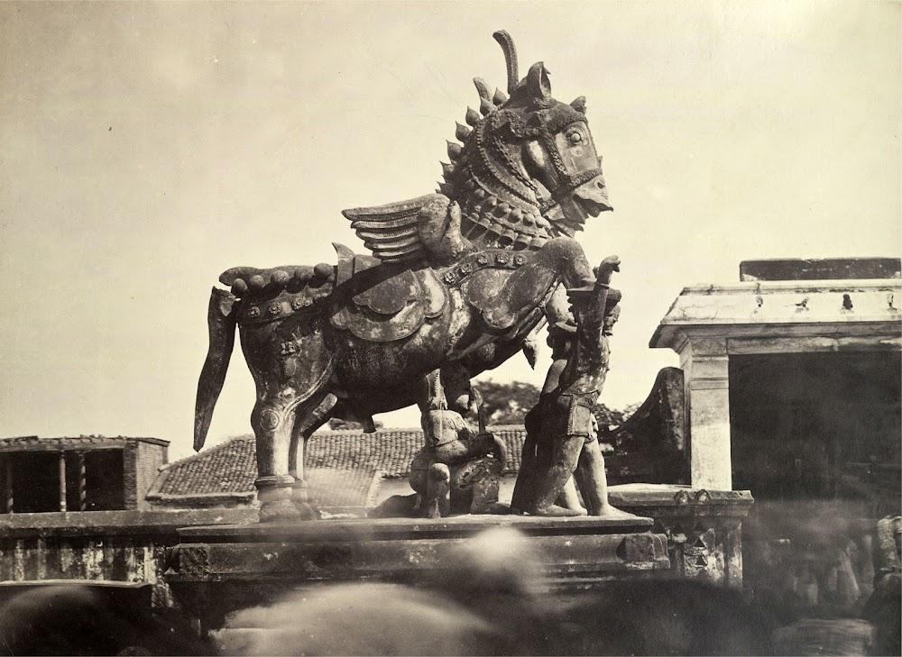 Guardian Statues in Madras (Chennai), Tamil Nadu - c. 1860's