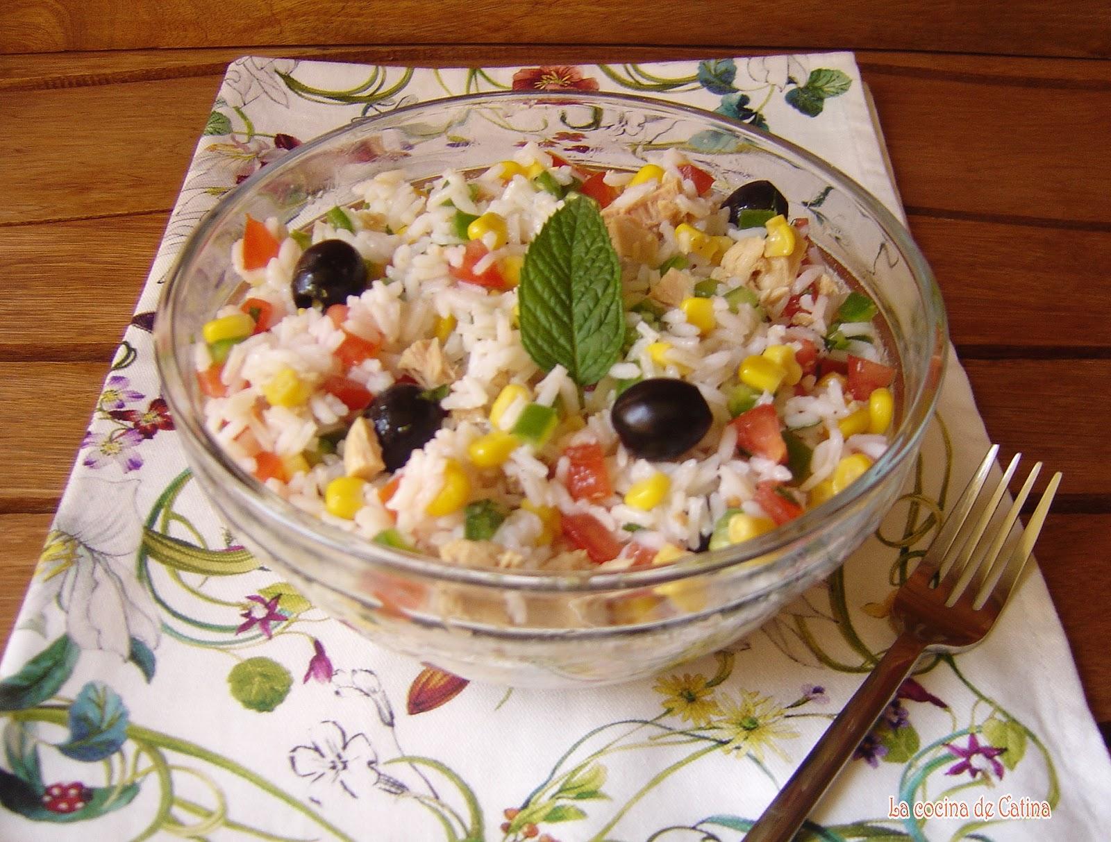 La cocina de catina ensalada de arroz con at n - Ensalada de arroz y atun ...
