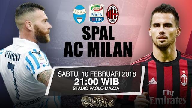 Prediksi SPAL2013 Vs AC Milan, Sabtu 10 February 2018 Pukul 21:00 WIB