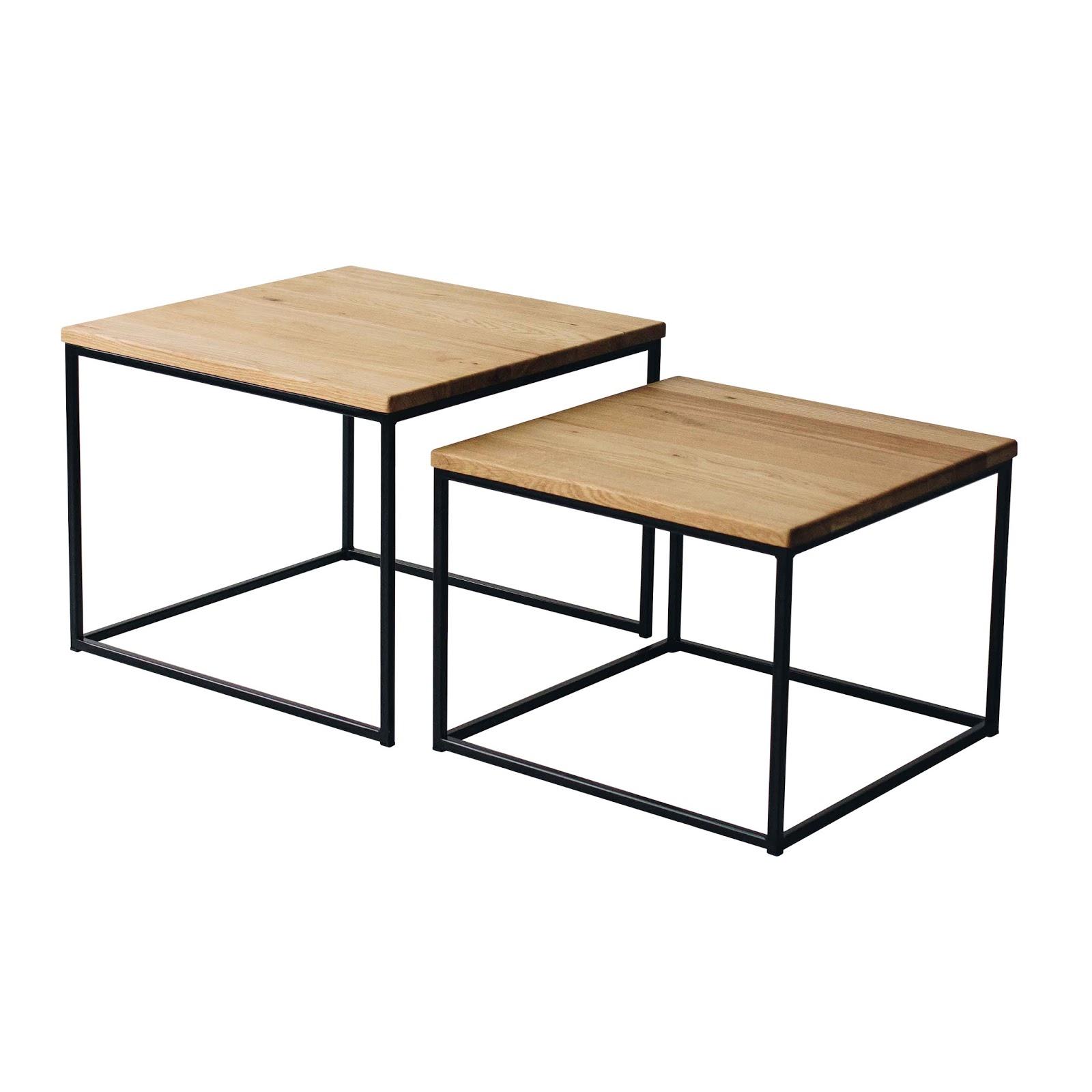 bestloft 2erset couchtisch eiche hell metallgestell schwarz beistelltisch 706686454396 ebay. Black Bedroom Furniture Sets. Home Design Ideas