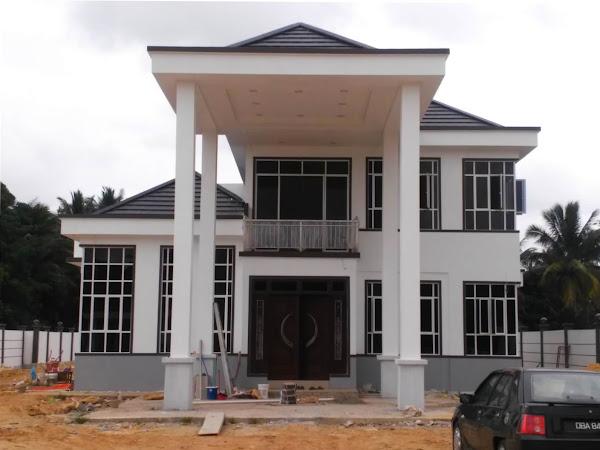 Bina Rumah Banglo 2 Tingkat dengan Kolam Renang di Bachok Kelantan