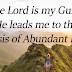 The Lord is My Guide to an Abundant Lifestyle