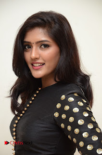 Eesha in a Lovely Black Choli and Skirt Spicy Pics at Gentleman Audio Launch
