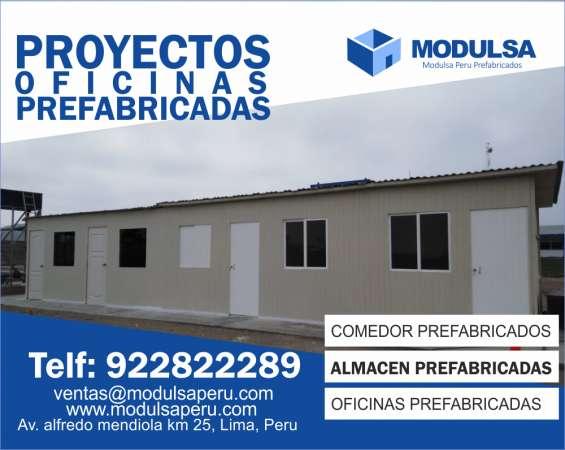 Modulsa Perú Oficinas En Drywall Y Madera Lima Callao