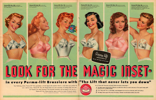 1940s-50s bullet bra magazine ad