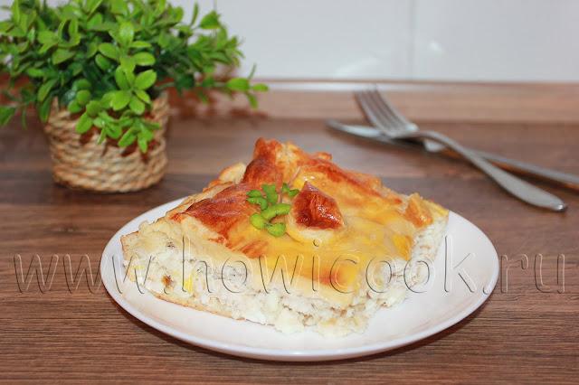 рецепт пирога с судаком, луком и яйцами с пошаговыми фото