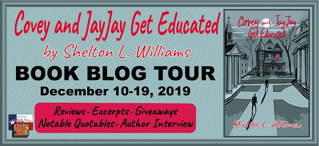 Covey and JayJay Get Educated book blog tour promotion banner