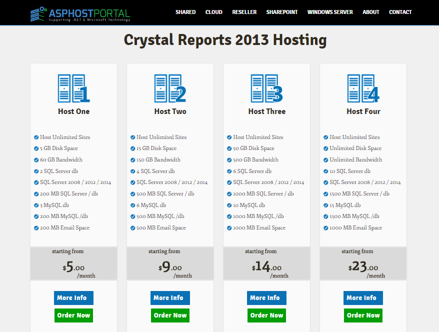 Best ASP.NET Hosting with Powerful Crystal Report 2013