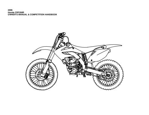 04 Honda crf250 owners manual