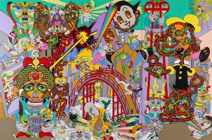 Psychedelic Pop Art by Keiichi Tanaami Peter Max 60s