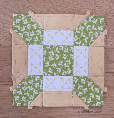The Farmer's Wife Sampler Quilt (20's)  Block 55 Linoleum