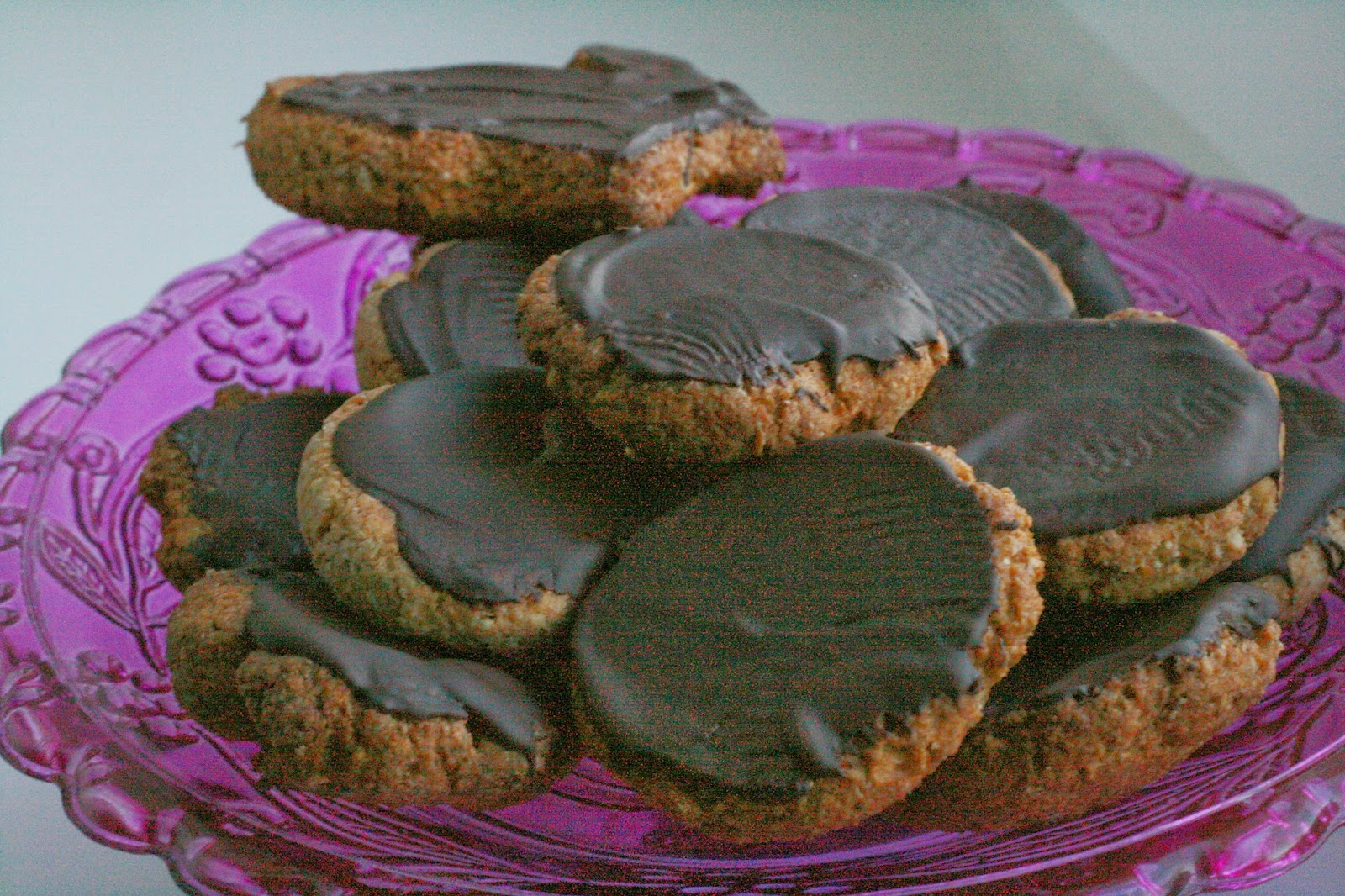 Healthy chocolate digestive biscuits, Teacups & Buttondrops