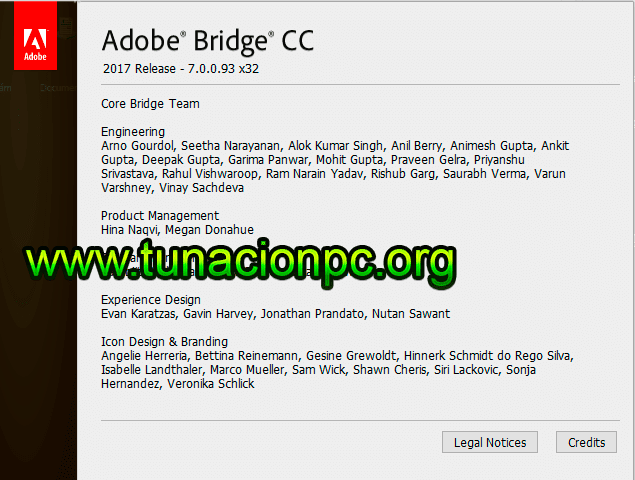 Adobe Bridge CC 2017 para windows y mac