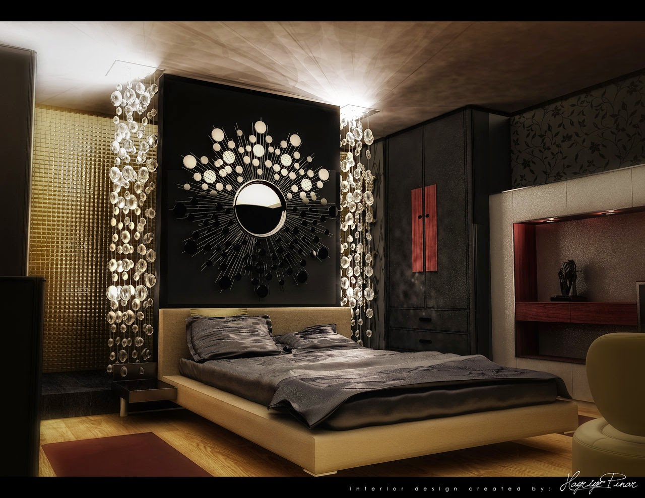 Glamorous bedroom decorating ideas | Kinjenk House Design