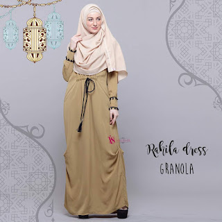Gamis Valisha Rahila Dress Granola