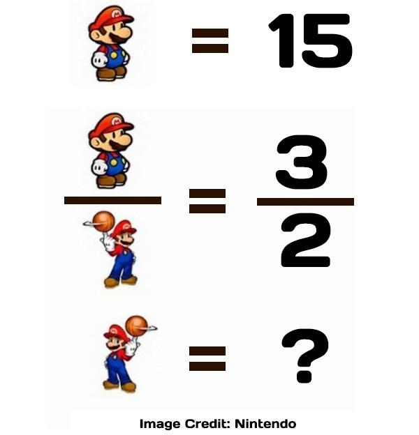 Mario video game IQ puzzle