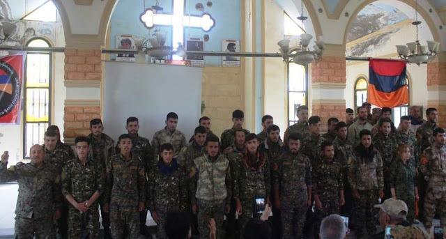 Batallón armenio lucha contra los turcos en Serekaniye