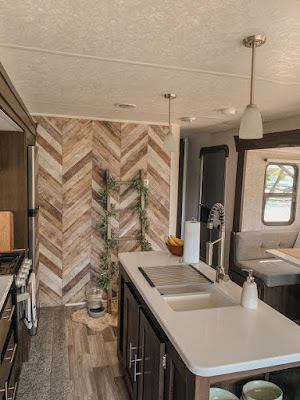 Loomwell Wallpaper used in a RV