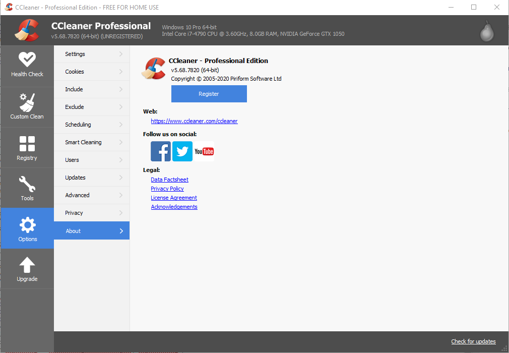CCleaner 5.68.7820